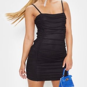 NWT Pretty Little thing Rouched Mini black dress